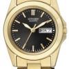 นาฬิกาผู้หญิง Citizen รุ่น EQ0562-54E, Quartz Elegant Day Date Stainless Steel Gold Tone