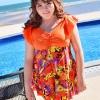 ชุดว่ายน้ำคนอ้วน พร้อมส่ง :ชุดว่ายน้ำคนอ้วนสีส้มแต่งลายดอกไม้สีสันสดใสแบบเก๋ กางเกงขาสั้นใส่ด้านในน่ารักมากๆจ้า:รอบอก40-48นิ้ว เอว38-46นิ้ว สะโพก44-52นิ้วจ้า