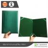 แฟ้มกล่าวรายงาน ผ้าไหม (ขนาด A4) สีเขียว