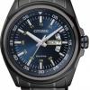 นาฬิกาข้อมือผู้ชาย Citizen Eco-Drive รุ่น AW0024-58L, Black Ion Plated Blue Dial 100m Sports Watch