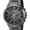 นาฬิกาผู้ชาย Seiko รุ่น SSC323, Solar Black PVD Steel Black Dial Chronograph
