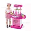 ชุดโต๊ะครัวแบบพกพา สีชมพู