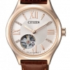 นาฬิกาผู้หญิง Citizen รุ่น PC1003-07A, Open Heart Automatic Sapphire Swarovski Gold Leather