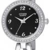 นาฬิกาผู้หญิง Citizen รุ่น EJ6070-51E, Quartz Elegant Swarovski Crystal Link Bracelet