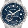 นาฬิกาข้อมือผู้ชาย Citizen Eco-Drive รุ่น CC3001-51L, Satellite Wave World Time F150 Blue Sapphire