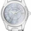 นาฬิกาข้อมือผู้หญิง Citizen Eco-Drive รุ่น EO1041-54D, Swarovski Crystal Date Elegant Watch