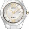 นาฬิกาข้อมือผู้หญิง Citizen Eco-Drive รุ่น FE1134-54A, Swarovski Crystal Elegant Dual Tone
