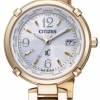นาฬิกาข้อมือผู้หญิง Citizen Eco-Drive รุ่น EC1042-51A, XC Titania Radio Controlled Sapphire Gold Titanium