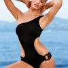 ชุดว่ายน้ำวันพีชพร้อมส่ง :ชุดว่ายน้ำวันพีชแฟชั่นสีดำ แต่งโซ่ที่ขอบกางเกงแบบ sexy น่ารักมากๆจ้า:รอบอก28-32นิ้ว เอว24-28นิ้ว สะโพก28-34นิ้วจ้า