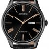 นาฬิกาผู้ชาย Citizen รุ่น NH8365-19F, Mechanical Automatic Day & Date Leather Strap 50m Men's Watch