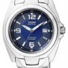 นาฬิกาข้อมือผู้หญิง Citizen Eco-Drive รุ่น EW0910-52M, Blue 100m Super Titanium Sapphire Sports Watch