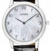 นาฬิกาผู้หญิง Citizen Eco-Drive รุ่น EG6005-03D, Sapphire Leather Ultra Slim Japan Ladies Watch