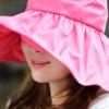 หมวกแฟชั่นพร้อมส่ง : หมวกปีกบานกว้างกันแดดสีชมพู พักเก็บง่ายแบบสวยน่ารักๆจ้า