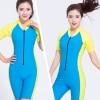 Swimsuit Bigsize พร้อมส่ง :ชุดแฟชั่นว่ายน้ำคนอ้วนสีฟ้าแต่งแถบเหลืองสีสันสวยสดใส น่ารักมากๆจ้า:รอบอก34-42นิ้ว เอว28-36นิ้ว สะโพก38-46นิ้วจ้า
