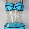 ชุดว่ายน้ำแฟชั่นพร้อมส่ง :ชุดว่ายน้ำแฟชั่นทูพีชสีฟ้า แต่งลายผ้าตัดขอบดำ สีสดใสน่ารักมากๆจ้า:รอบอก28-32นิ้ว เอว30-34นิ้ว สะโพก32-36 นิ้วจ้า