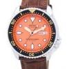 นาฬิกาผู้ชาย Seiko รุ่น SKX011J1-LS7, Automatic Diver's Ratio Brown Leather 200M