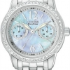 นาฬิกาข้อมือผู้หญิง Citizen Eco-Drive รุ่น FD1030-56Y, Silhouette Swarovski Elegant Watch