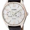 นาฬิกาข้อมือผู้ชาย Citizen Eco-Drive รุ่น AO9024-08A, Leather Multi-Dial Calendar 100m Elegant Watch