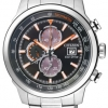 นาฬิกาผู้ชาย Citizen Eco-Drive รุ่น CA0574-54E, Chronograph Silver/Black-Orange
