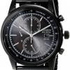 นาฬิกาข้อมือผู้ชาย Citizen Eco-Drive รุ่น CA0338-57E, Black IP Stealth Mesh Chronograph