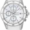 นาฬิกาข้อมือผู้หญิง Seiko รุ่น SNDX57P1, Sportura Chronograph Diamonds 100m Sapphire