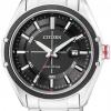 นาฬิกาข้อมือผู้ชาย Citizen Eco-Drive รุ่น BM6890-50E, 100m Black Dial Stainless Steel Sports Watch