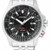 นาฬิกาข้อมือผู้ชาย Citizen Eco-Drive รุ่น BJ7071-54E, GMT Pilots Mens Watch