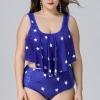 ชุดว่ายน้ำทูพีชคนอ้วน พร้อมส่ง :ชุดว่ายน้ำไซส์ใหญ่สีน้ำเงินแต่งลายดาวสีขาวและระบายแบบสวย. sexyมากๆจ้า:รอบอก44-52นิ้ว เอว40-50นิ้ว สะโพก42-54นิ้ว