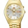 นาฬิกาผู้ชาย Orient รุ่น SAB06003W8, 3 Star Crystal 21 Jewels Automatic Gold