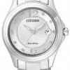 นาฬิกาผู้หญิง Citizen รุ่น FE1130-55A, Eco-Drive Swarovski Crystal