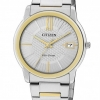 นาฬิกาข้อมือผู้หญิง Citizen Eco-Drive รุ่น FE6014-59A, Ladies WR 50m Elegant Dual Tone Watch
