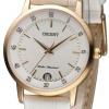 นาฬิกาผู้หญิง Orient รุ่น FUNG6002W0, Quartz Rose Gold Leather Strap Women's Watch