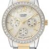 นาฬิกาข้อมือผู้หญิง Citizen Quartz รุ่น ED8094-52N, Elegant Swarovski Crystal Multi Dial