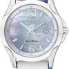 นาฬิกาข้อมือผู้หญิง Citizen Eco-Drive รุ่น EW1780-00A, Sapphire Japan White Leather Ladies Watch