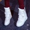 (พร้อมส่ง) รองเท้าผ้าใบ Velcro 10cm สีผสมรองเท้าลำลองเวอร์ชั่นเกาหลี