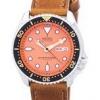 นาฬิกาผู้ชาย Seiko รุ่น SKX011J1-LS9, Automatic Diver's Ratio Brown Leather 200M