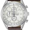 นาฬิกาผู้ชาย Seiko รุ่น SSB181P1, Quartz Chronograph 100m Gent's Elegant Leather Watch
