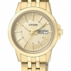 นาฬิกาผู้หญิง Citizen รุ่น EQ0603-59P, Analog Display Gold Watch