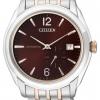 นาฬิกาข้อมือผู้ชาย Citizen Automatic รุ่น NJ0064-56W, Multi Dial Dual Tone Sapphire Japan 100m