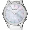 นาฬิกาผู้หญิง Citizen รุ่น EM0597-12D, Eco-Drive Mother of Pearl 50m Women's Watch