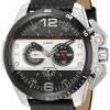 นาฬิกาผู้ชาย Diesel รุ่น DZ4361, Ironside Chronograph Black Dial Black Leather
