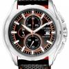 นาฬิกาข้อมือผู้ชาย Citizen Eco-Drive รุ่น CA0270-08E, Chronograph Leather 100m Black Orange