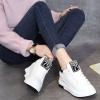 รองเท้าผ้าใบหนัง PU เพิ่มสูง 7 cm ไซต์ 34-40