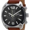 นาฬิกาผู้ชาย Diesel รุ่น DZ4296, Overflow Chroonograph Black Dial Brown Leather