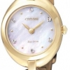 นาฬิกาผู้หญิง Citizen รุ่น EX1432-51D, Eco-Drive Silhouette Swarovski Crystal Gold Ladies Watch