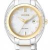 นาฬิกาข้อมือผู้หญิง Citizen Eco-Drive รุ่น EW2254-58A, Geniune Diamonds Sapphire