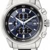นาฬิกาข้อมือผู้ชาย Citizen Eco-Drive รุ่น CA0131-55L, Titanium Adventure Blue Chronograph Watch