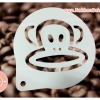 แผ่นโรยผงโกโก้ Stencils ตกแต่งหน้ากาแฟ ตกแต่งหน้าเค้ก ลายพอลแฟร้ง paul frank