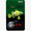ปลาการ์ตูนซิลิโคลนเรืองแสงสีเขียวอ่อน