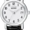 นาฬิกาข้อมือผู้หญิง Citizen Eco-Drive รุ่น EW1270-06A, Leather Elegant Watch